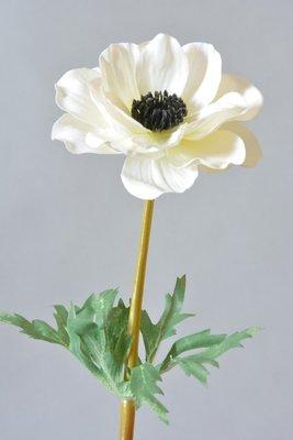 Anemoon kunstbloem, wit